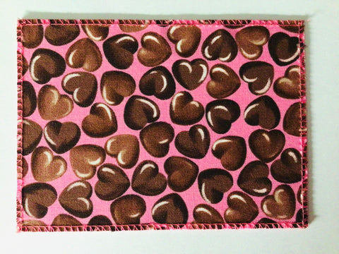 Chocolate Hearts on Pink