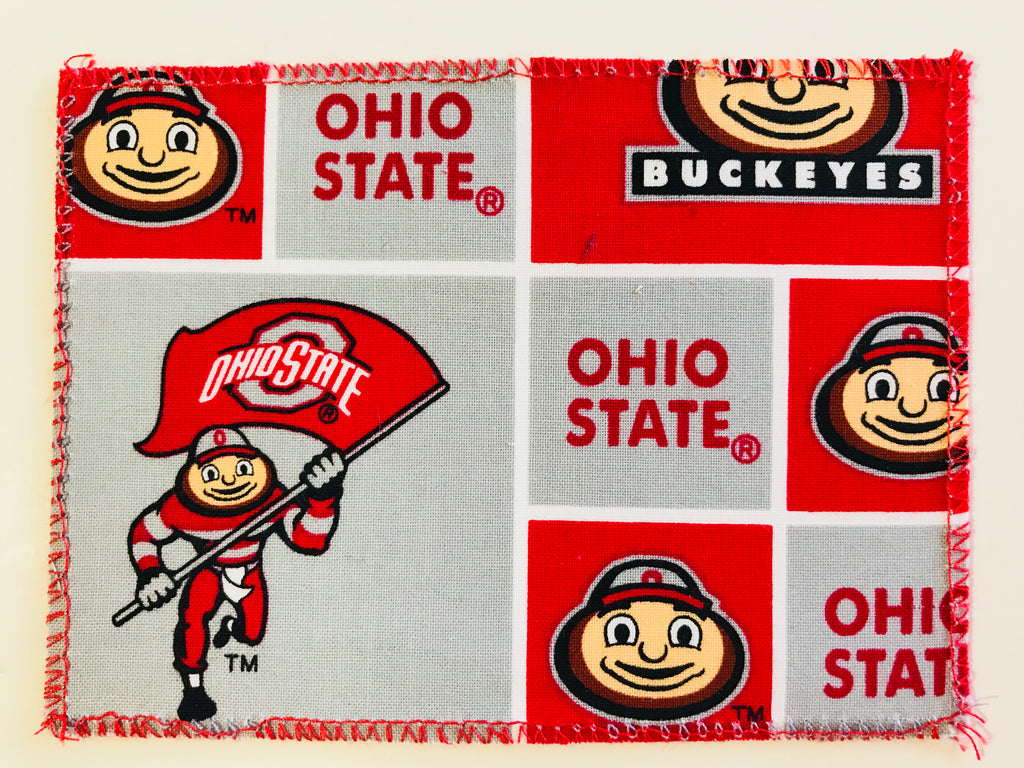 Ohio State Buckeyes Fabric Notecards