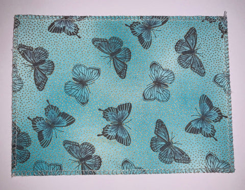 Butterfly Teal Grey