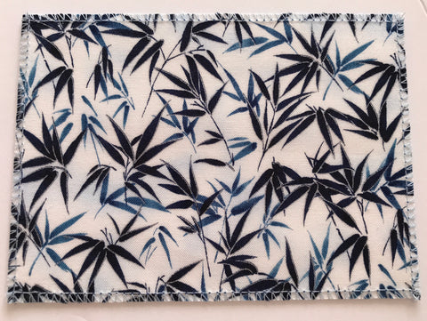 Navy Bamboo Leaves