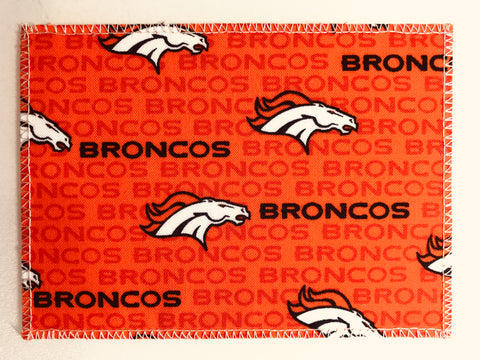Denver Broncos Fabric Notecards