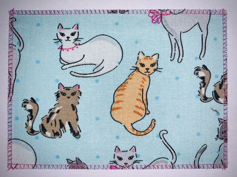 Cats on Pastel Blue