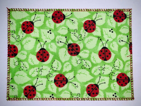 Lady Bugs on Green