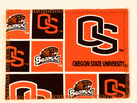 Oregon State Univ Beavers Fabric Notecards