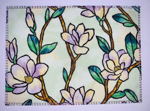 Stained Glass Lavender Floral