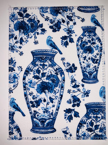 Delft Blue Vase & Birds
