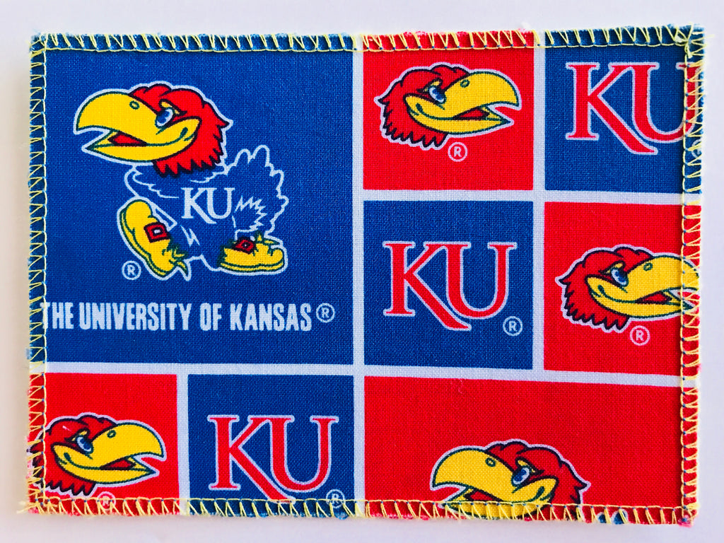 Univ of Kansas Jayhawks Fabric Notecards