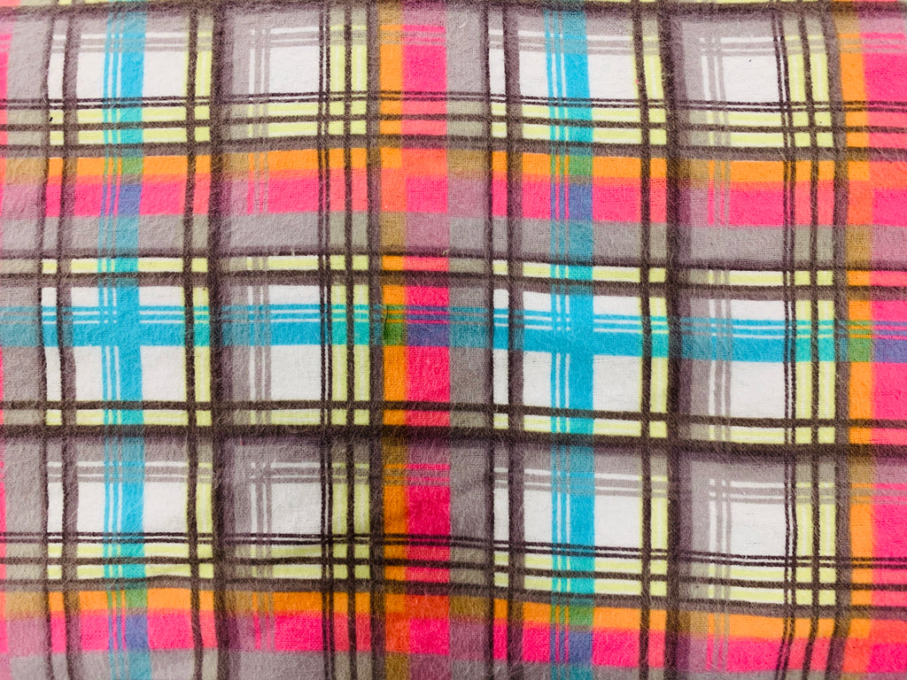 Plaid Flannel Bright Colors