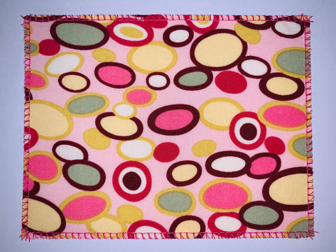 Geometric Ovals Pink/Browns