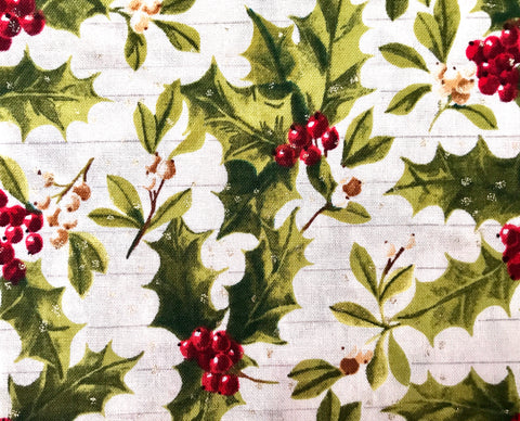 Holly & Berries on Ivory