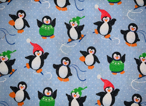 Christmas Skating Penguins