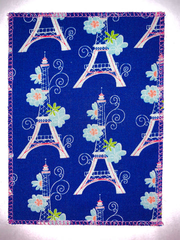 Pink Eiffel Tower on Navy