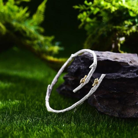 Antality Bird on Branch Adjustable Bangle