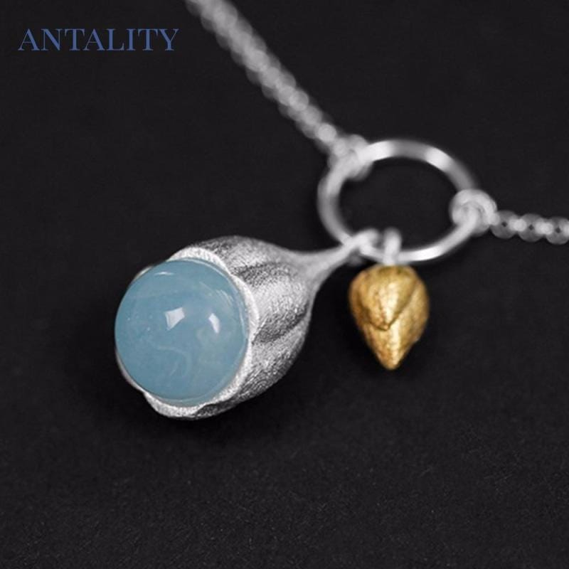 Elegant Lotus Buds Bracelet - Antality Handcrafted Handmade Unique Sterling Silver Art Jewelry