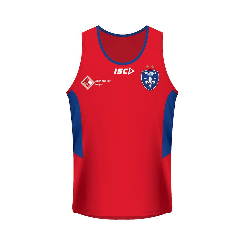 19 ISC Training Singlet Red/Ryl Kids
