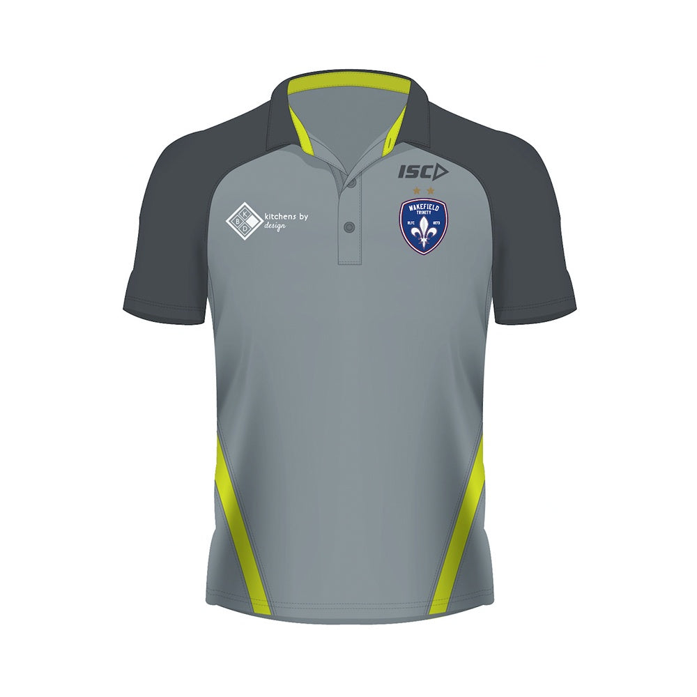 19 ISC Performance Polo Grey/Neon