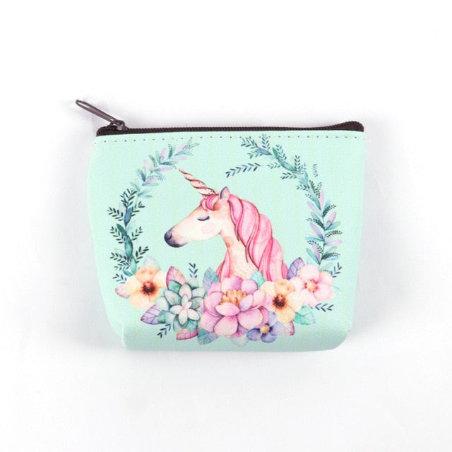 Unicorn Flowers Wallet - Unicorn in Wonderland