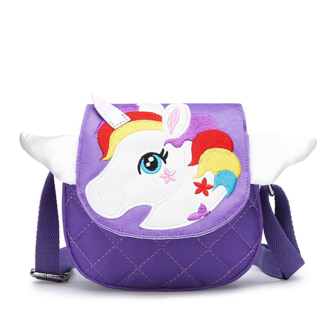 Unicorn Handbag Head Purple - Unicorn in Wonderland