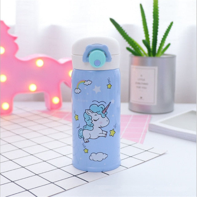 Unicorn Bottle Running Blue 500ml - Unicorn in Wonderland