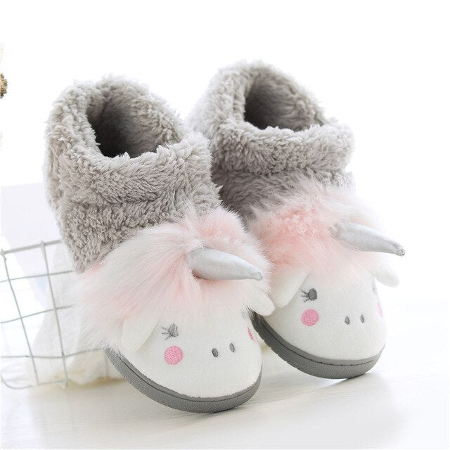 Unicorn Slipper Gray Tall Sheep - Unicorn in Wonderland