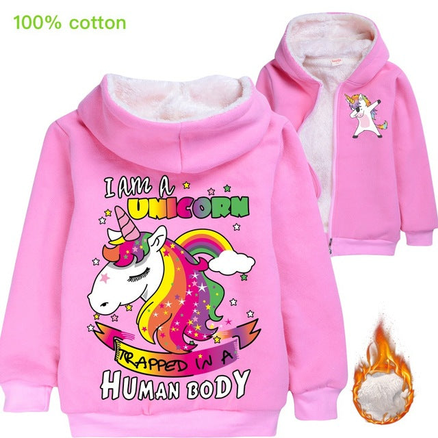 Unicorn Jacket Human Body Rose - Unicorn in Wonderland
