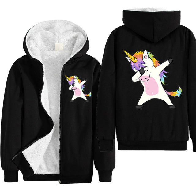 Unicorn Jacket Dab Black - Unicorn in Wonderland