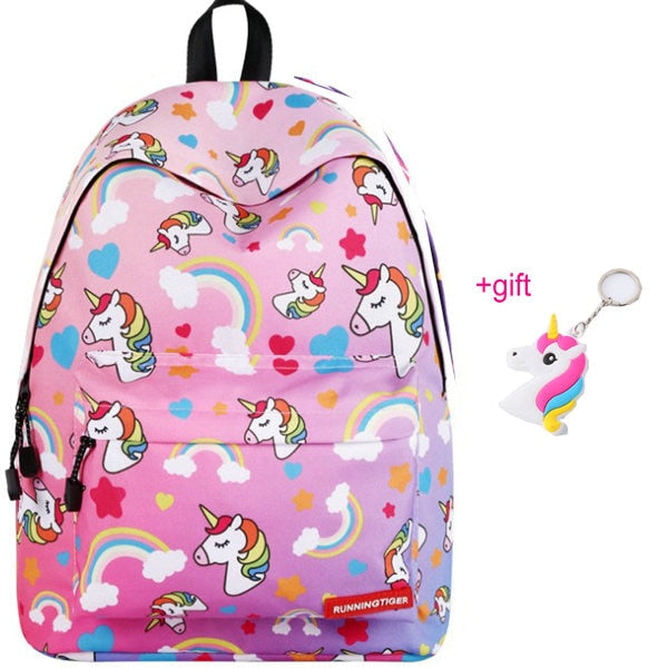 Unicorn Backpack Heads Pink - Unicorn in Wonderland