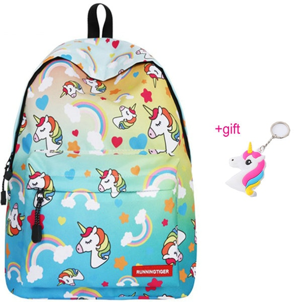 Unicorn Backpacks Clouds Blue - Unicorn in Wonderland
