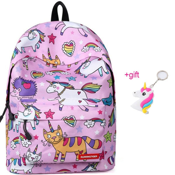 Unicorn Backpacks Cats Pink - Unicorn in Wonderland