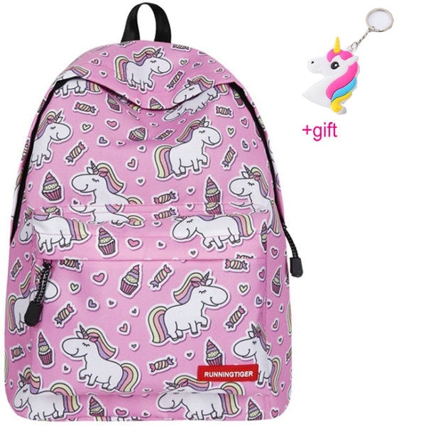 Unicorn Backpacks Happy Pink - Unicorn in Wonderland