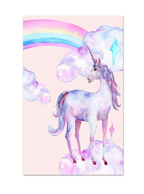 Unicorn Picture Soul Mate Star 30x40cm - Unicorn in Wonderland
