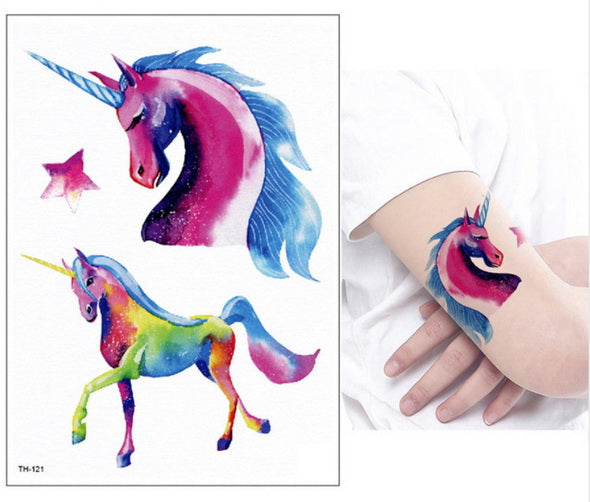 Unicorn Fake Tattoo Beautiful Galaxy - Unicorn in Wonderland