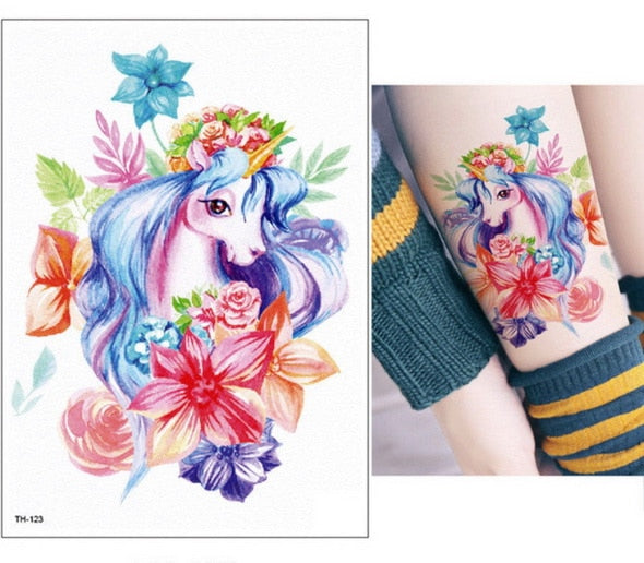 Unicorn Fake Tattoo Beautiful Princess - Unicorn in Wonderland