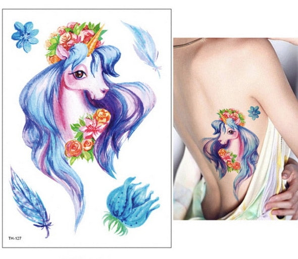 Unicorn Fake Tattoo Beautiful Pride - Unicorn in Wonderland