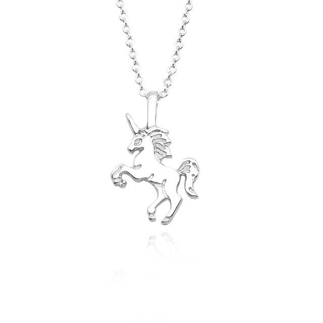 Unicorn Necklace Showing Silver Colored - Unicorn in Wonderland