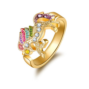 Unicorn Ring Running Gold Colored - Unicorn in Wonderland