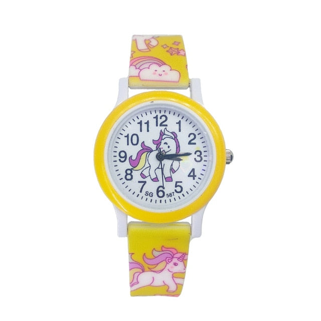 Unicorn Watch Yellow Children - Unicorn in Wonderland