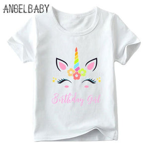 Unicorn Tee Shirt Cute Birthday Girl White - Unicorn in Wonderland