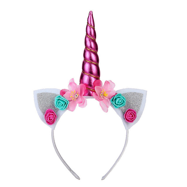 Unicorn Headband Rose With Bow - Unicorn in Wonderland