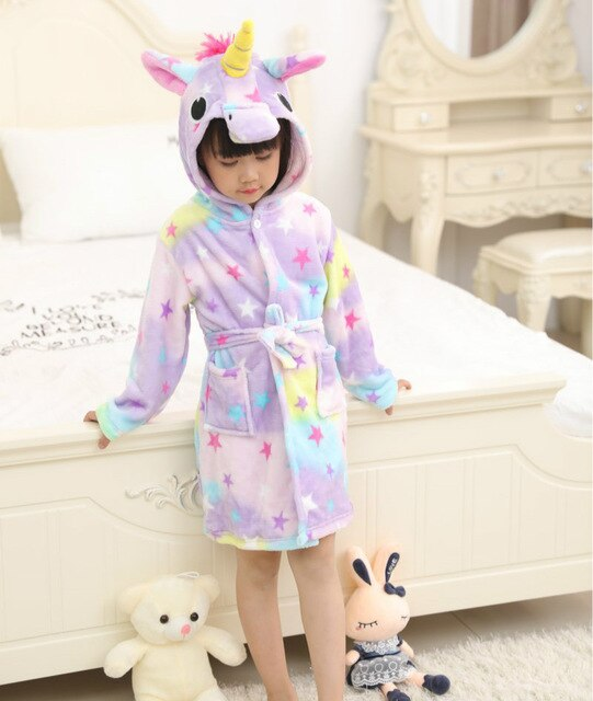 Unicorn Bathrobe Star Kid