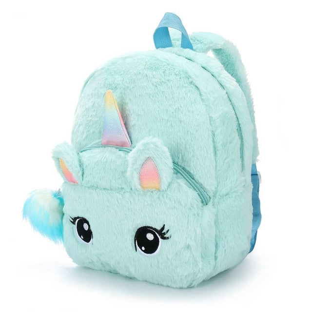 Unicorn Backpack Fluffy Blue - Unicorn in Wonderland