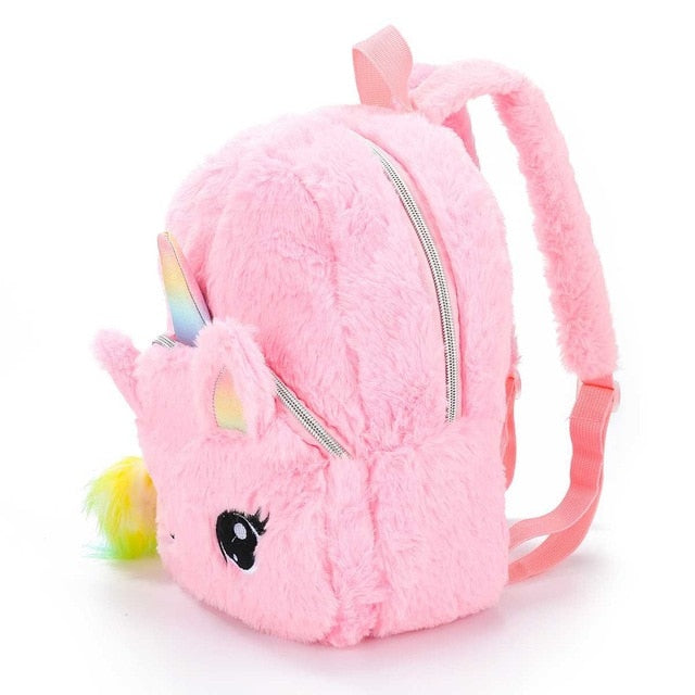 Unicorn Backpack Fuffy Pink - Unicorn in Wonderland