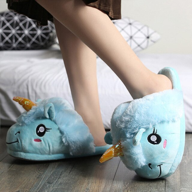 Unicorn Slipper Blue Sheep - Unicorn in Wonderland