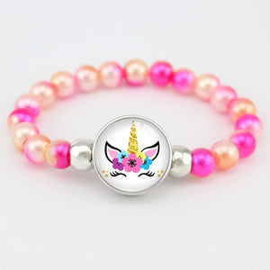 Unicorn Bracelet Flower - Unicorn in Wonderland