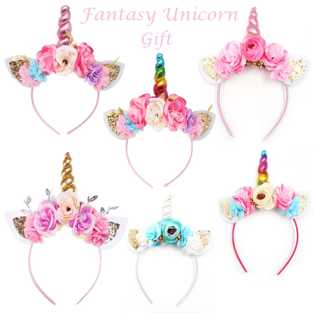Unicorn Headband Roses Rainbow - Unicorn in Wonderland