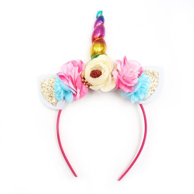 Unicorn Headband Roses White - Unicorn in Wonderland