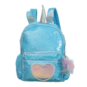 Unicorn Backpack Heart Spangle Blue - Unicorn in Wonderland