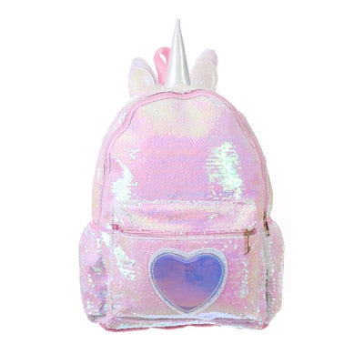 Unicorn Backpack Heart Spangle Pink - Unicorn in Wonderland