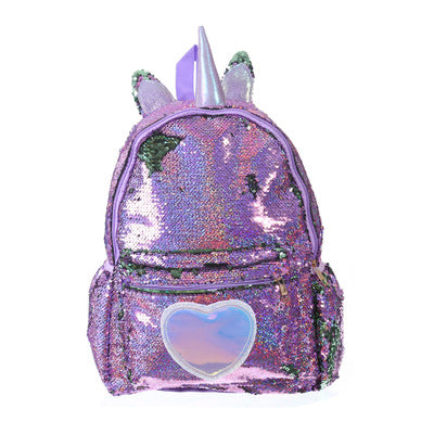 Unicorn Backpack Heart Spangle Purple - Unicorn in Wonderland