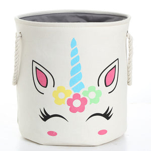 Unicorn Laundry Basket Cute 5 White - Unicorn in Wonderland